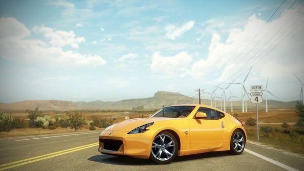 Photo free Forza Horizon, Nissan, yellow