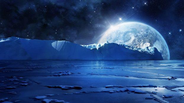 Фото бесплатно пейзаж, галактика, свет