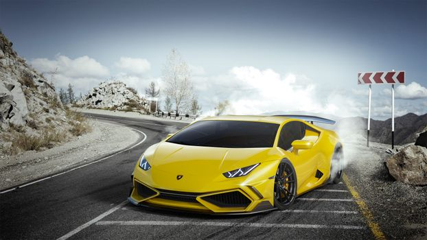 Photo free Lamborghini, Behance, Lamborghini Huracan