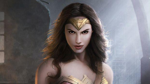 Фото бесплатно Чудо-женщина, супергерои, художник