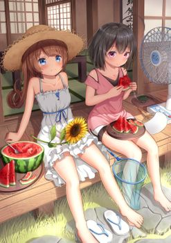 Photo free anime girls, summer, dress