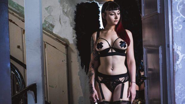 Photo free goth, german, lingerie