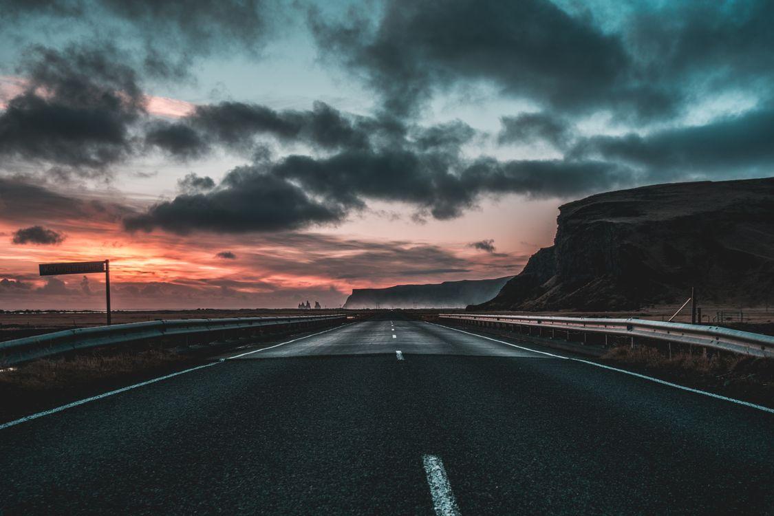 Вечерняя дорога · бесплатное фото