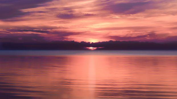 Фото бесплатно тучи, закат, море