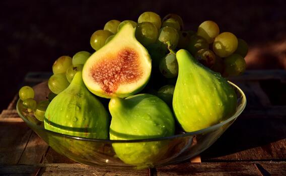 Photo free fig, grapes, fruits
