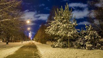 Бесплатные фото Санкт-Петербург огни города Парк авиаторов