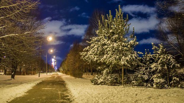 Фото бесплатно Санкт-Петербург, огни города, Парк авиаторов