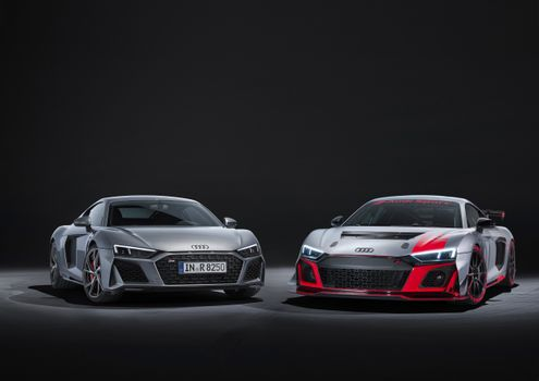 Photo free Audi R8, two cars, brand