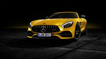 Photo free Mercedes AMG GT, 2018 cars, cars