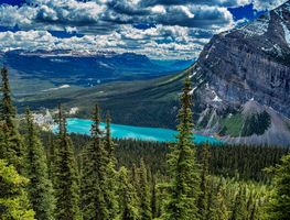Photo free mountains, Alberta, lake