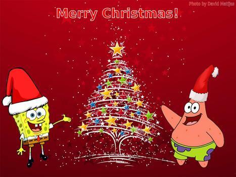 Фото бесплатно рождество, губка боб квадратные штаны, новый год