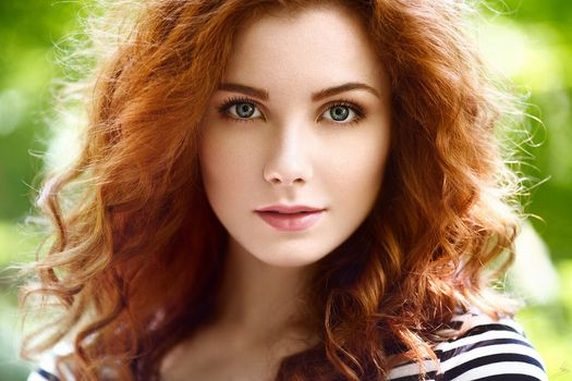 Photo free hair, girl, portrait