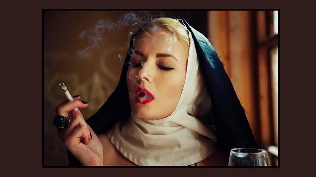 Photo free girl, blonde, nun