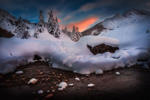 Photo free Winter Morning, Italian Alps, winter