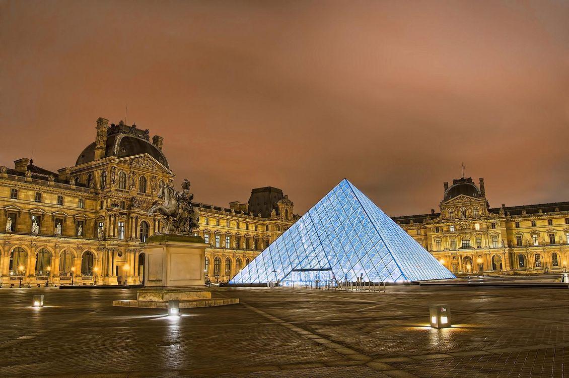 Обои Лувр, Париж, Франция на телефон | картинки город