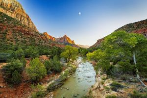 Заставки Zion National Park, Utah, The Virgin River
