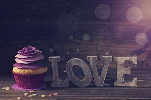 Заставки фиолетовый, кекс, торт ко дню рождения
