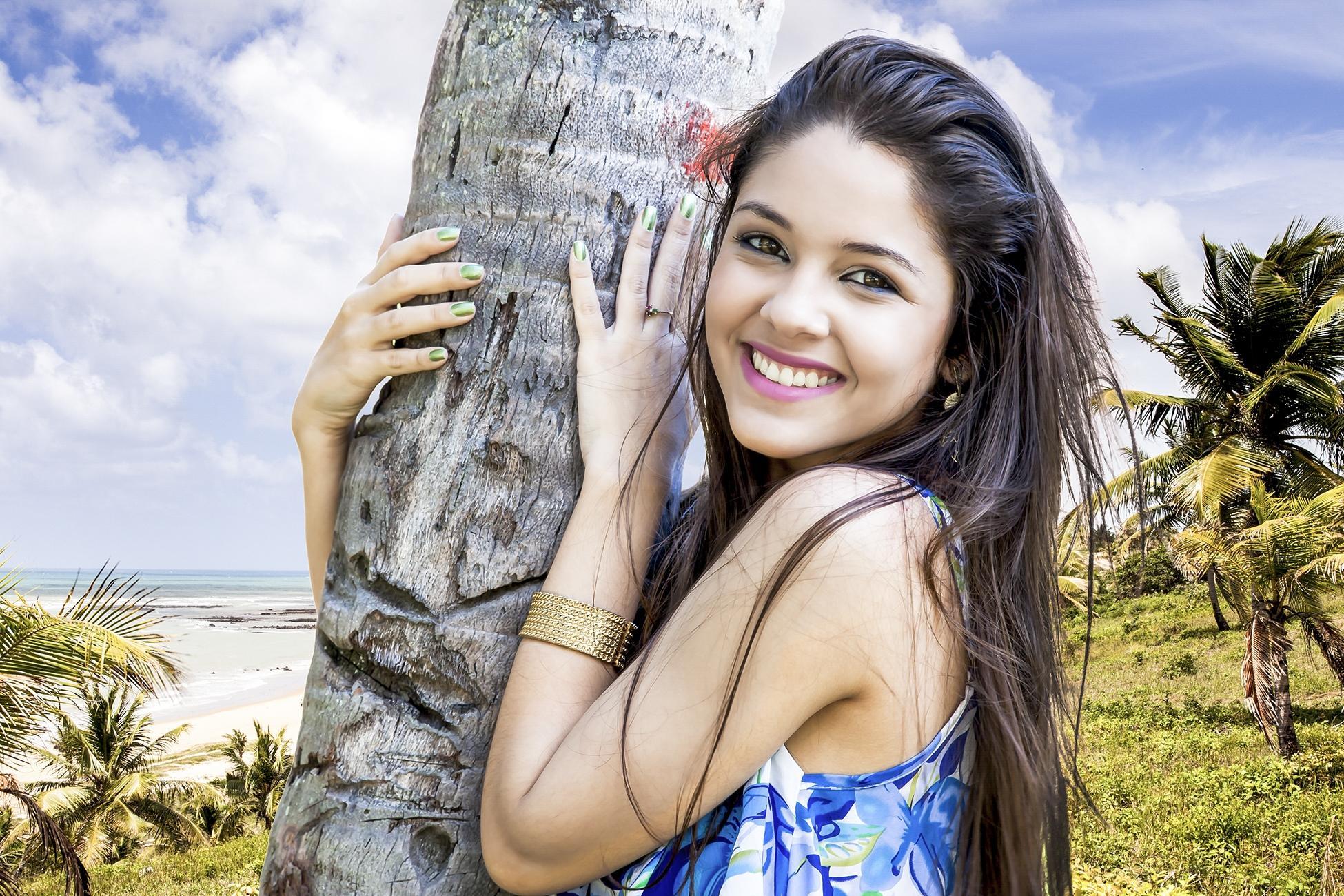 Обои Pamela Danielly, Brazil, девушка, модель