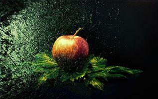 Бесплатные фото яблоко,фрукт,еда,десерт,брызги