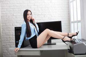 Фото бесплатно взгляд девушки, красивые девушки, азиатские секретари
