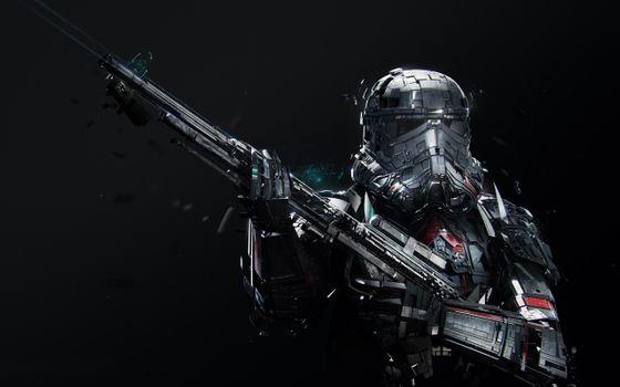 Заставки Звездные войны, гвардеец смерти, пистолет