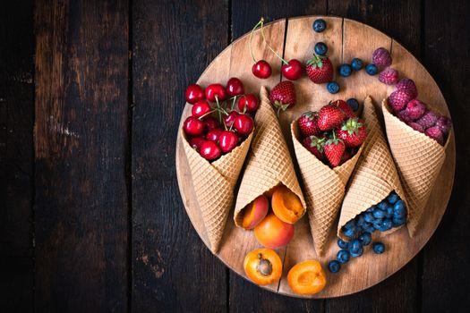 Photo free strawberry, cherry, blackberry