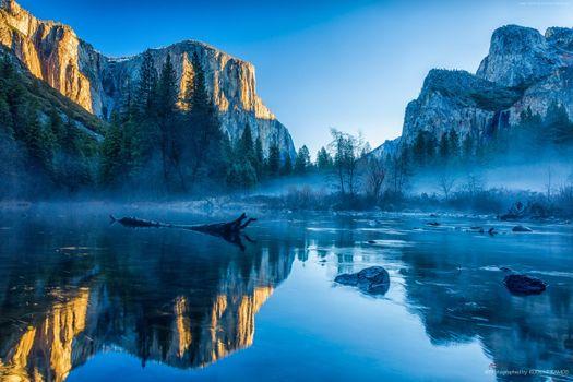 Photo free mountains, computer, Yosemite