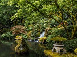 Заставки водопад, пейзаж, портленд