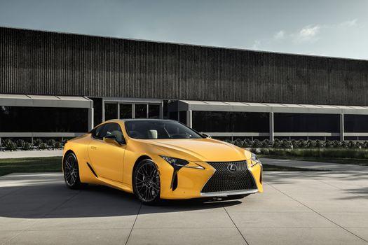 Фото бесплатно желтый, суперкары, lexus lc 500