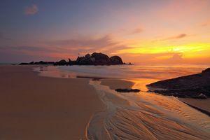Фото бесплатно бесплатные изображения, пляж, послесвечение