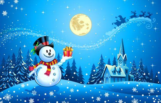 Фото бесплатно Рождественские украшения, снеговик, дизайн