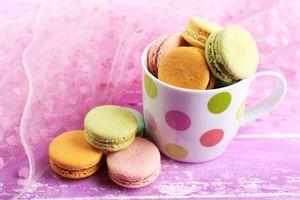 Бесплатные фото сладкое,печенье,color,macaron