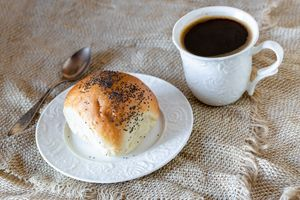 Muffin with coffee