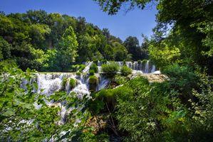 Заставки Krka National Park, Croatia, Национальный парк Крка, Хорватия, водопад