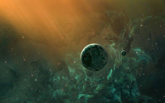 Фото бесплатно планеты, газовое облако, туманность
