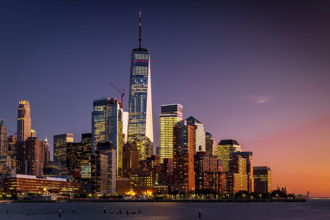 Фото бесплатно Манхэттен, Нью-Йорк, США, небоскребы, город