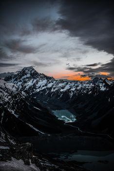 Фото бесплатно вид сверху, озеро, горы