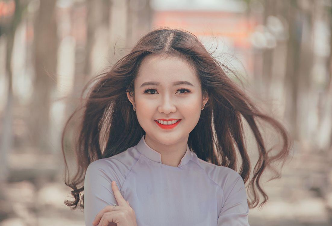 Фото бесплатно портрет, красивая, счастливая - на рабочий стол