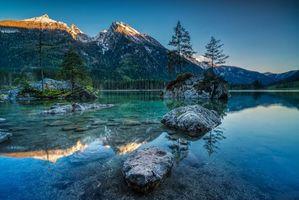 Заставки Озеро Хинтерзее, Hintersee, Германия