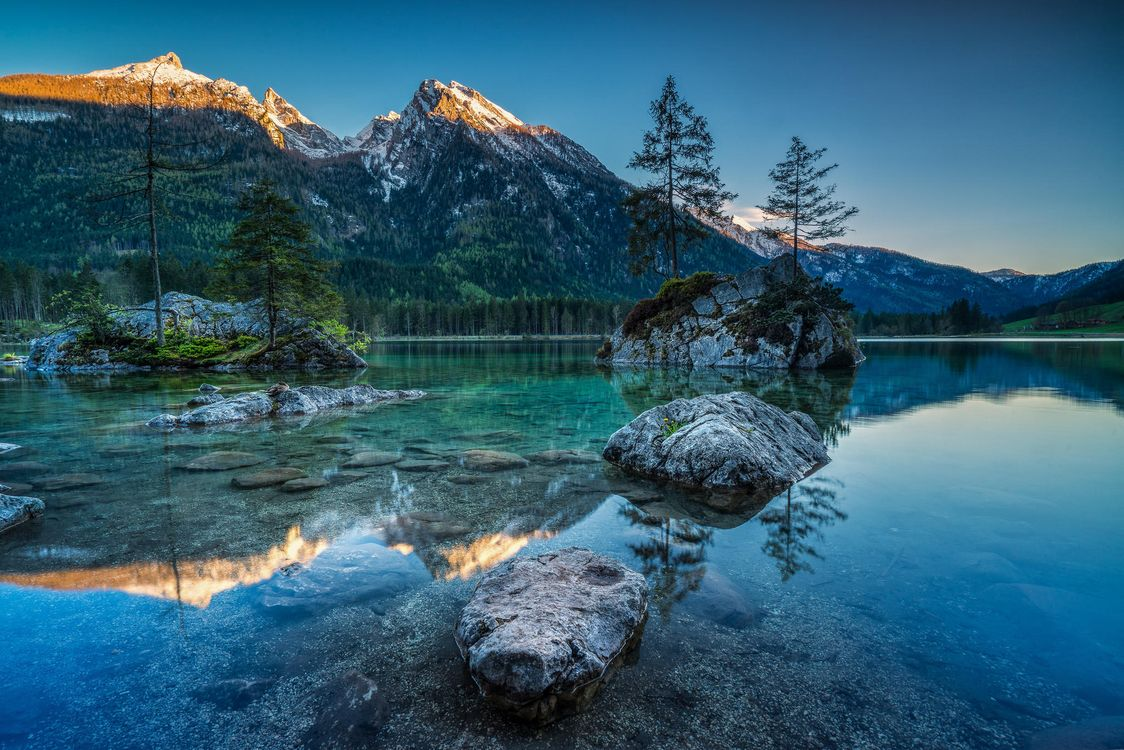 Фото бесплатно Озеро Хинтерзее, Hintersee, Германия - на рабочий стол