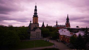 Бесплатные фото Польша,город,здание,HDR,природа,дубы,облака
