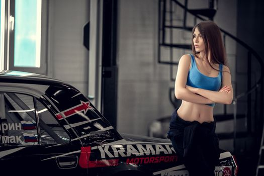 Photo free brunette, automobiles, young