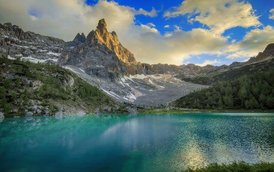 Заставки природа, горная италия, Альпы