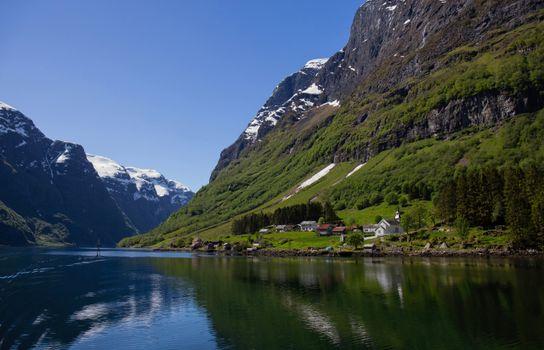 Фото бесплатно Норвегия, горы Норвегии, фьорд
