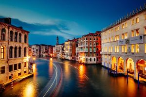 Photo free Italy, Grand Canal, night
