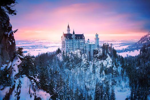 Фото замок нойшванштайн, германия, замок нойшванштайн без регистрации