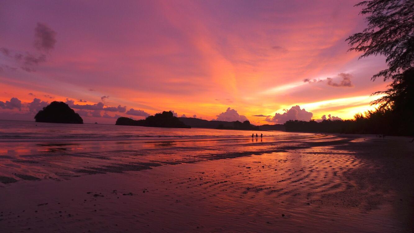 Фото побережье сумрак вечер - бесплатные картинки на Fonwall