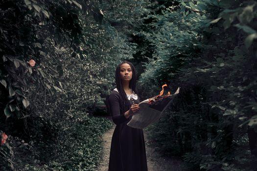Фото бесплатно лес, женщины на улице, женщина