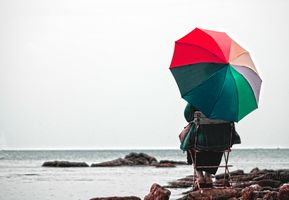 Photo free nature, umbrella, sea