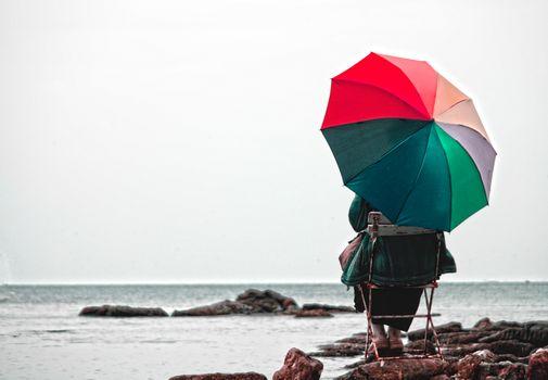 Бесплатные фото природа,зонтик,море,отпуск,воды,небо,лето,пляж,океан,весело,ветер,векторные иллюстрации